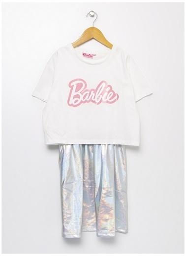 Barbie Barbie Bisiklet Yaka Ekru Elbise Ekru